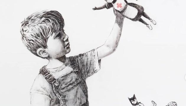 Photo of Бэнкси создал новое граффити: Бэтмен — на помойке, медсестра — супергерой