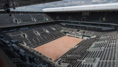 Photo of Стадионы «Ролан Гаррос» будут заполнены наполовину