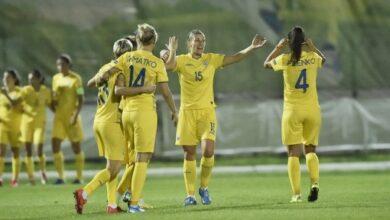 Photo of Женская сборная Украины по футболу обыграла Ирландию в отборе Евро-2022