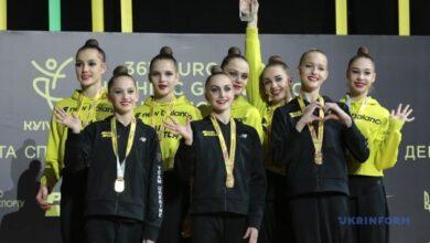 Photo of Сборная Украины завоевала золотые медали во второй день ЧЕ по художественной гимнастике