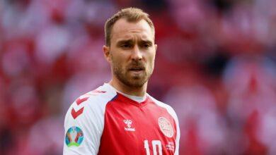 Photo of Потерявший сознание на поле датский футболист Эриксен признан «Звездой матча» с Финляндией